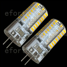 2pcs G4 3014SMD 64 LED 220V Boat Light Cabinet RV Silicon Gel Bulb Warm White