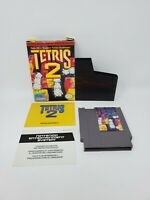 Tetris 2 (Nintendo Entertainment System, 1993) Complete Manual Box CIB Tested