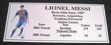 Soccer Lionel Messi Picture Silver Sublimated Plaque Postage
