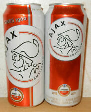 2 Amstel Beer AJAX AMSTERDAM Soccer cans from HOLLAND (50cl)