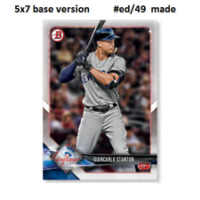 GIANCARLO STANTON Yankees #67  -  5x7 Base Version #ed/49 made 2018 Topps Bowman