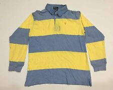 VTG POLO RALPH LAUREN STRIPED RUGBY LONG SLEEVE BLUE YELLOW