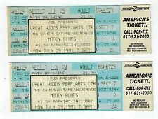 2- moody blues un-torn concert tickets-great woods perf. arts ctr, july 29, 1991