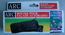 Funda de poliéster para autoradio- acolchada con cremallera, pasa cinturones etc