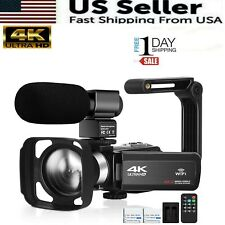 4K UHD Video Camera for YouTube Vlogging Live Streaming Build-in Fill Light with