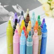 24PCS Waterproof Acrylic Paint Pens Fine Art Marker Metal Glass Rock Pen Useful