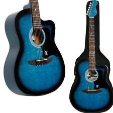 Guitares acoustiques bleus avec 6 cordes