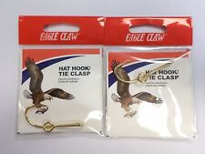 Eagle Claw Hat Hook/Tie Clasp Gold 2 Pack #155A 623AA