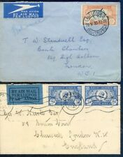 South Africa 1935 Silver JUbilee 2 commercial covers (2019/10/14#08)