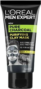 NEW Men Expert Pure Charcoal Purifying Kaolin Clay Mask 50ml