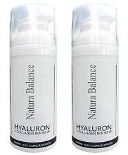 2x 50ml Hyaluron Collagen BOOSTER Gel Aloe Vera Hyaluronsäure Falten Kollagen