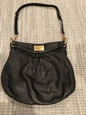 Marc by Marc Jacobs classic q hillier hobo black Pebbled Leathet