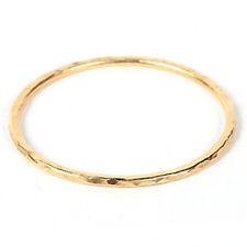 Bita Pourtavoosi Handmade Yellow Gold Plated Hammered Stackable Bangle Bracelet