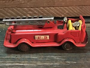 Tin Friction Fire Truck Made In Japan F*D Ladder Truck