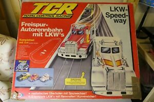 TCR Freispur-Autorennbahn LKW's / 80er / Carrera / ohne Fahrzeuge