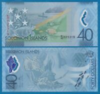 Solomon Islands 40 Dollars P 37 2018 Polymer Banknote Commemorative UNC !