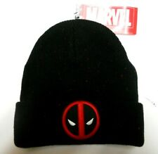 NEW MARVEL Comics DEADPOOL Black   Red HEAVY Knit BEANIE HAT one size ff8fd84af5a