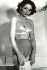 1940s-60s (4 x 6) Repro Risque Pinup BW RP- Strapless Bra- Panties- Skirt