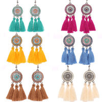 Women 2019 Bohemian Earrings Long Tassel Fringe Boho Dangle Earring Jewelry Hook