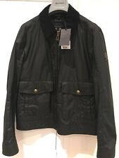 Belstaff Mentmore Blouson Man Black Wax Jacket, Size 50
