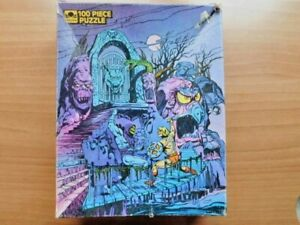 """VINTAGE MASTERS OF THE UNIVERSE MOTU JIGSAW PUZZLE """"SNAKE MOUNTAIN"""" 100 PC"""