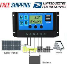 30/60A Solar Panel Battery Regulator Charge Controller Dual USB 12V 24V 1500W