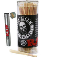 RAW Cones King Size Pre-Rolled Cones w/ Filter (50 Pack) + RAW Aluminum Tube