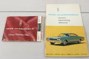 1965 Oldsmobile Owner Operating Manual Ninety-Eight Jetstar 88 Protecto Plate