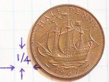 Coin Great Britain 1967 Half Penny Copper