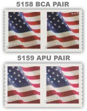 5158 BCA and 5159 APU Flag USA Forever Stamps Set of 2 Pairs 2017 MNH - Buy Now