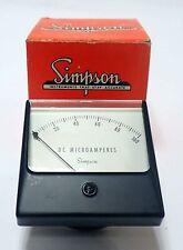Simpson Ssc 35 1327 Wide Vue Analog Panel Meter 0 100 Dc Microamps Unused