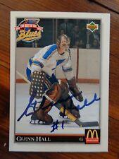 "St. Louis Blues Glenn Hall Signed 1992 Upper Deck ""McDonald's&#03 4; Card B"