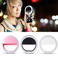 Selfie LED Light Ring Flash Fill Clip Camera For iPhone Samsung  Various Phone