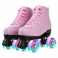 New listing KYIS Womens Roller Skates Hightop Shiny PU Leather Rubber Classic Roller Arti...