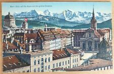 AK SCHWEIZ BERN Blick auf die Alpen von der gr. Schanze Ansichtskarte Postcard