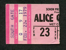 1979 Alice Cooper concert ticket stub Bloomington Madhouse Rock From The Inside