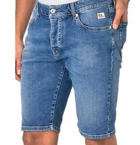 Roy Roger's - Bermuda Uomo Blu Jeans Slim