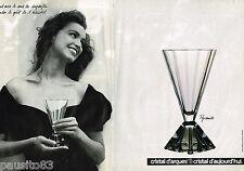 PUBLICITE ADVERTISING 055  1988  CRISTAL D'ARQUES   verre PYRAMIDE ( 2p)