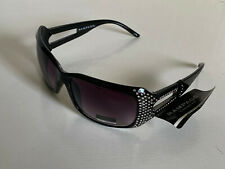 NEW! RAMPAGE EYEWEAR BLACK RHINESTONES CRYSTALS LADIES SUNGLASSES SHADES SALE