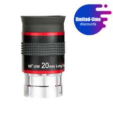 SVBONY OkulareTelescope Eyepiece Kit 1.25inch 68° 20mm Ultra Wide Angle Lens FMC