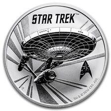 2016 Tuvalu Star Trek Original U.S.S. Enterprise BU 1 oz .999 Silver Round Coin