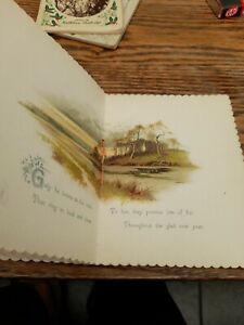 Antique Christmas Greetings Booklet 'Christmas Chimes' Germany Artistic lithogra