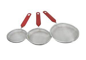 Kitchen Stainless Steel Mesh Oil Strainer Flour Food Colander Sieve All Purpose