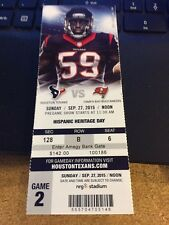 2015 HOUSTON TEXANS VS TAMPA BAY BUCCANEERS NFL TICKET STUB 9/27 JAEMIS WINSTON