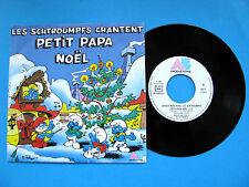 Vinyle 45T Les Schtroumpfs Chantent Petit Papa Noel