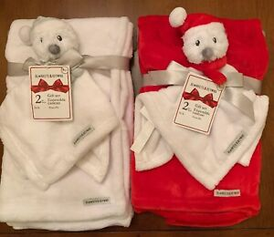Choice Of Snowman Security Lovie Blanket Beyond Sets Red or White NEW