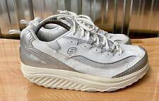 Skechers donna Shape Ups stile 12307 Regno Unito misura 8 bianco e argento ottime condizioni
