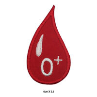 O Positive Blood Drop Patch Embroidered Patch Iron on Sew On Badge For Clothes