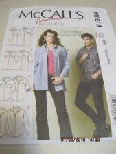 UNCUT 2012 MCCALL'S M6613 Sewing Pattern Misses' / Men's Shirts Xlg Xxl XXxl