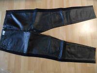 CP29 TWENTYNINE stylische Lederhose Lederleggings schwarz Gr. 38 NEU